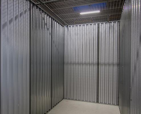 Enkelt depotrum set indefra